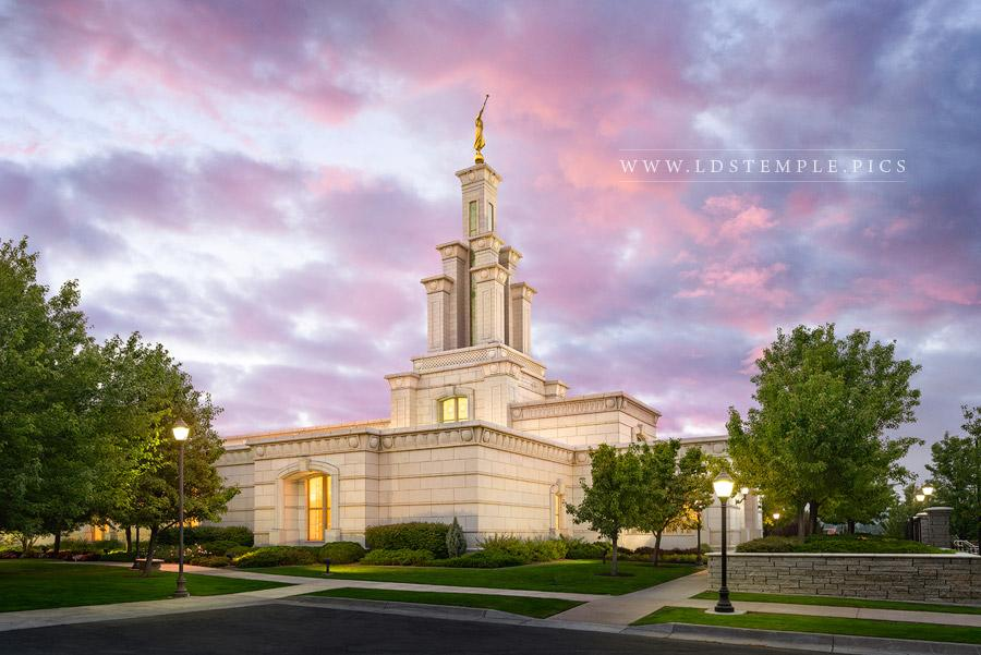 Columbia River Temple Pastel Sunset Print