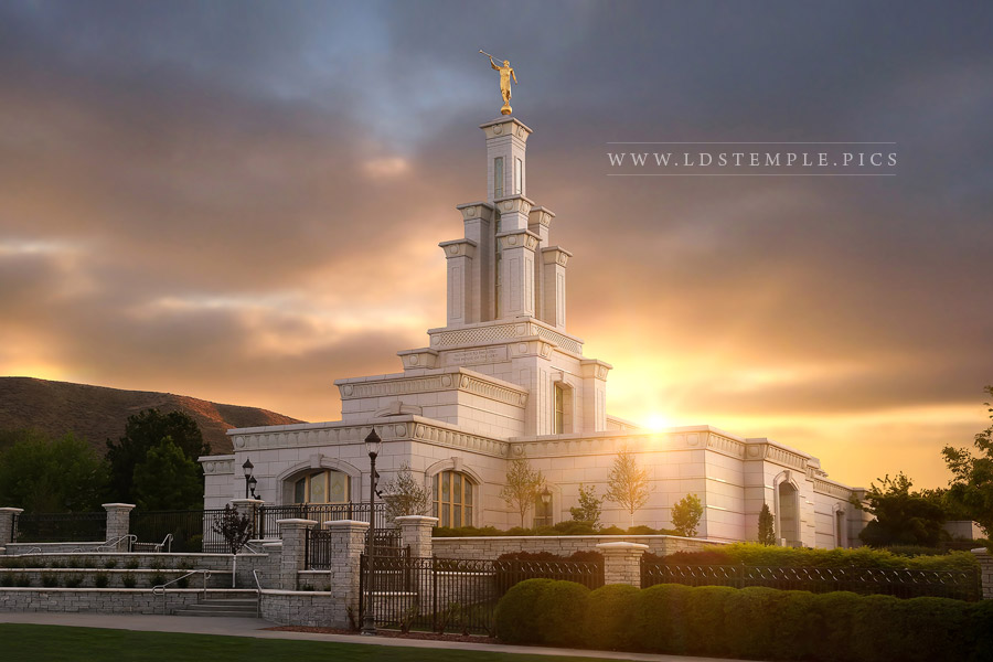 Columbia River Temple Spring Sunset Print