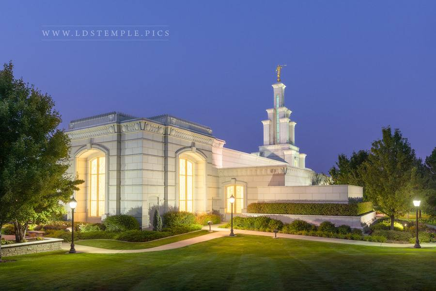 Columbia River Temple Twilight Glow Print
