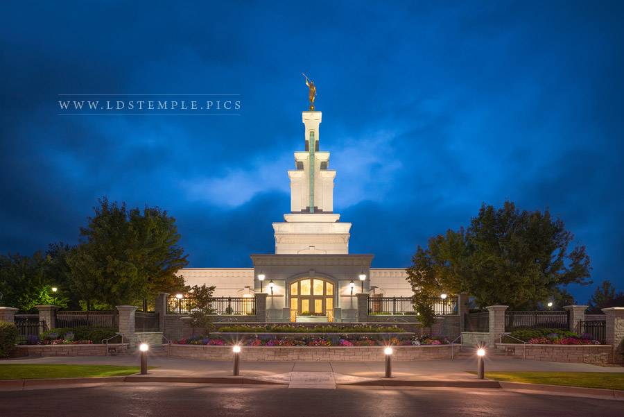 Columbia River Temple Twilight Print