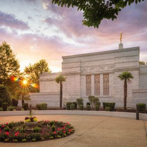 columbia-temple-garden-sunset