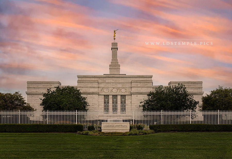 Columbus Temple Eternity Within Reach Print