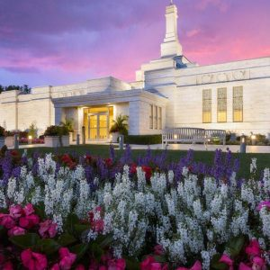columbus-temple-summer-flowers