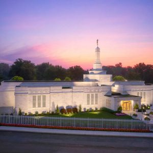 columbus-temple-sunrise-glow