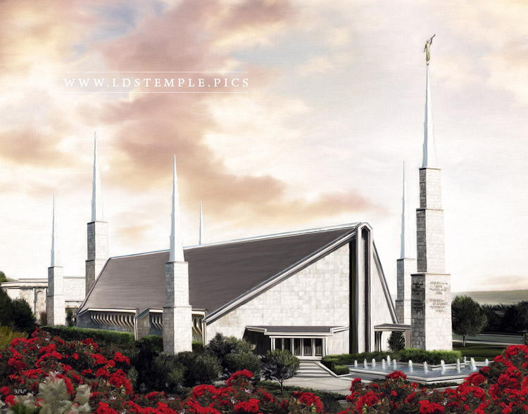Dallas Temple Afternoon Painting Print