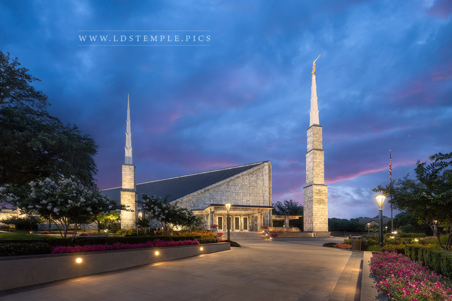 Dallas Temple Colors of Dawn Print