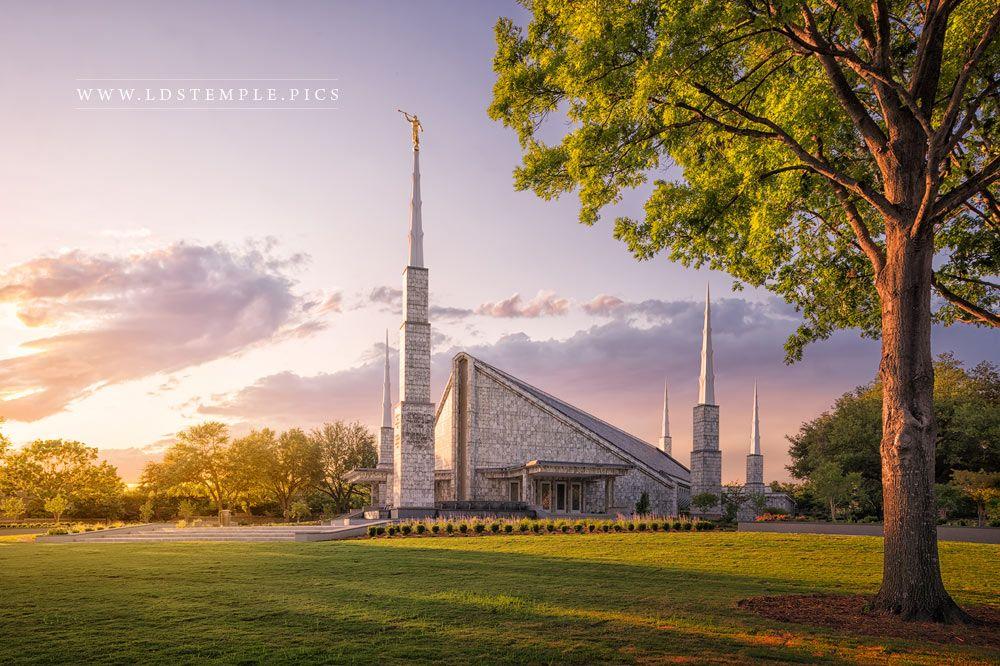 Dallas Temple Eventide Print