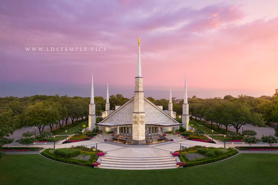 Dallas Temple Heavenly Light Print