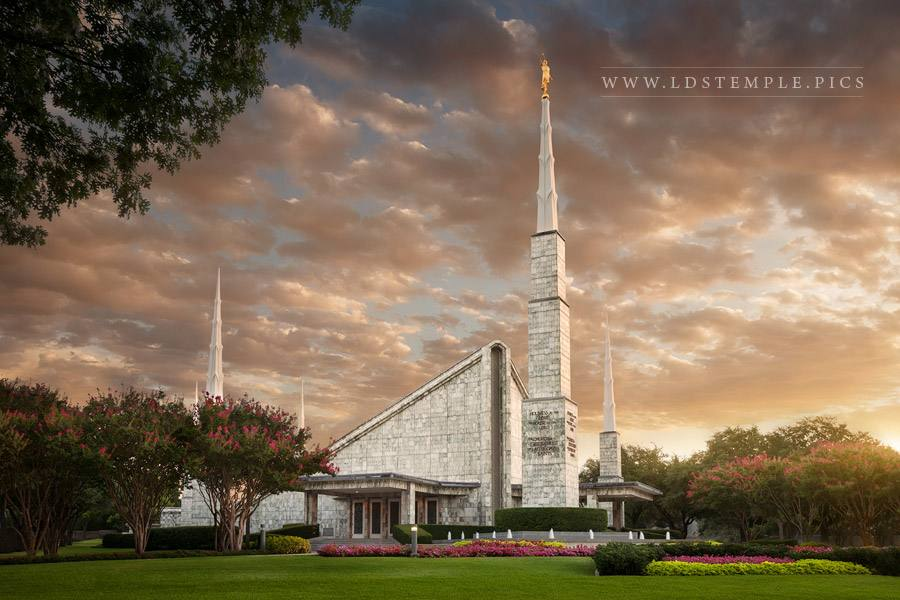 Dallas Temple Morning Glow Print