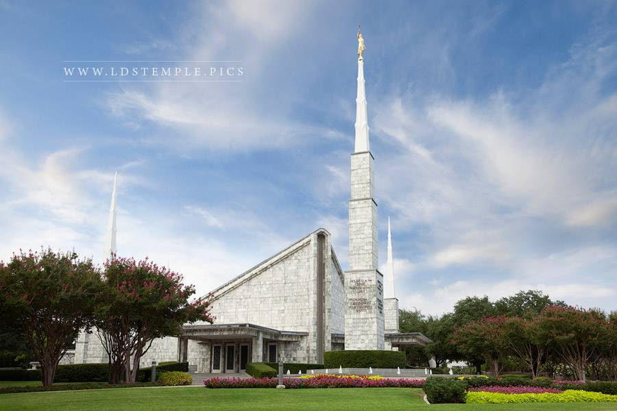 Dallas Temple Peaceful Afternoon Print
