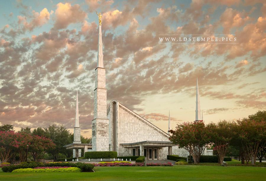 Dallas Temple Sunrise Northwest Print