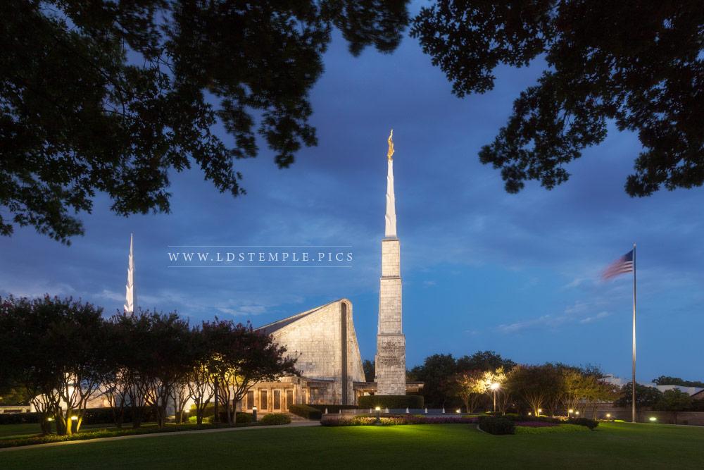 Dallas Temple Twilight Print