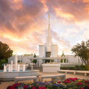 denver-temple-sunset