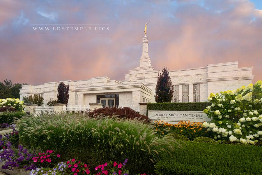 Detroit Temple Peaceful Morning Print