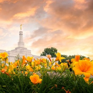 detroit-temple-sunset-flowers