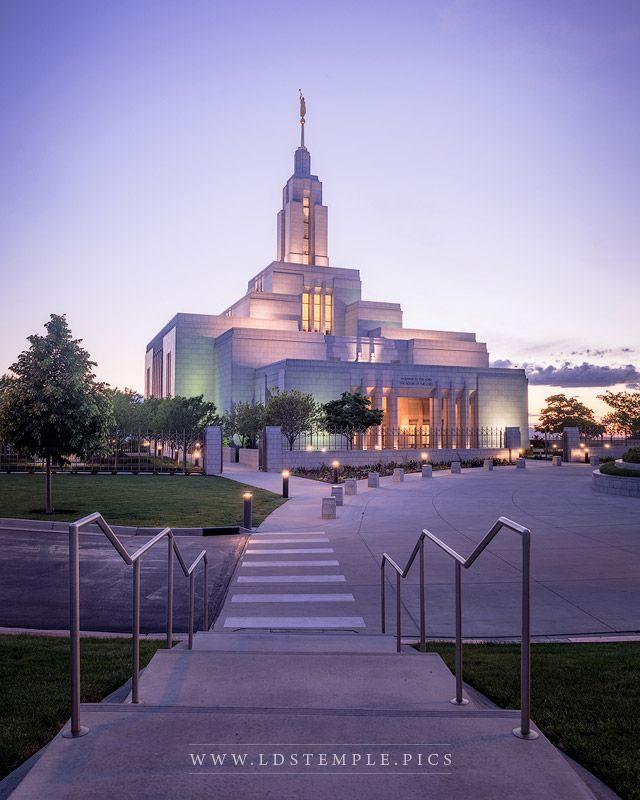 Draper Temple Dusk - LDS Temple Pictures Real Snowflake