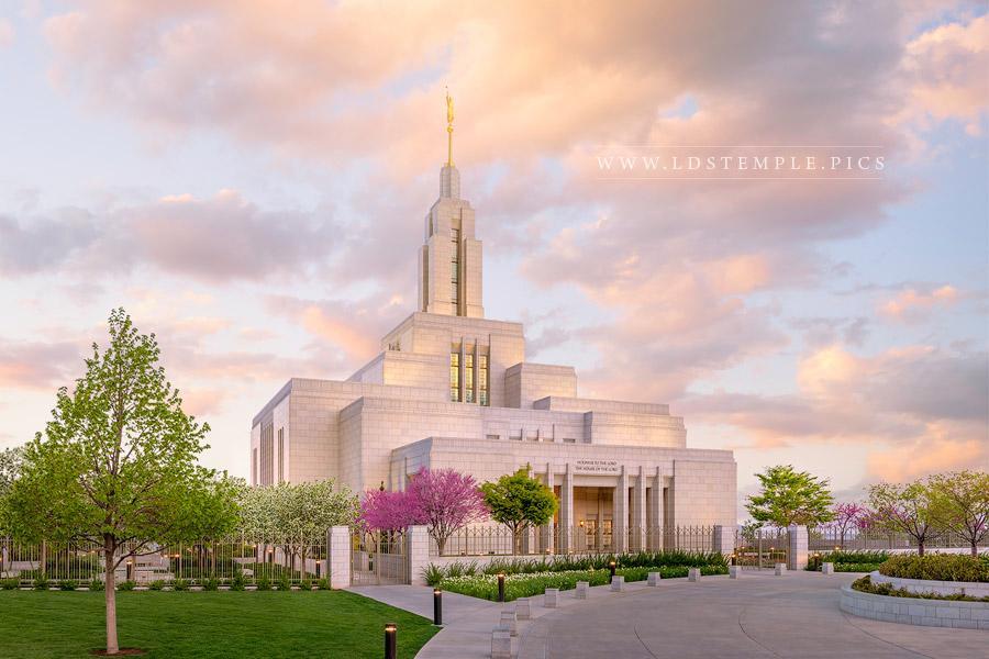 Draper Temple – Spring Glow