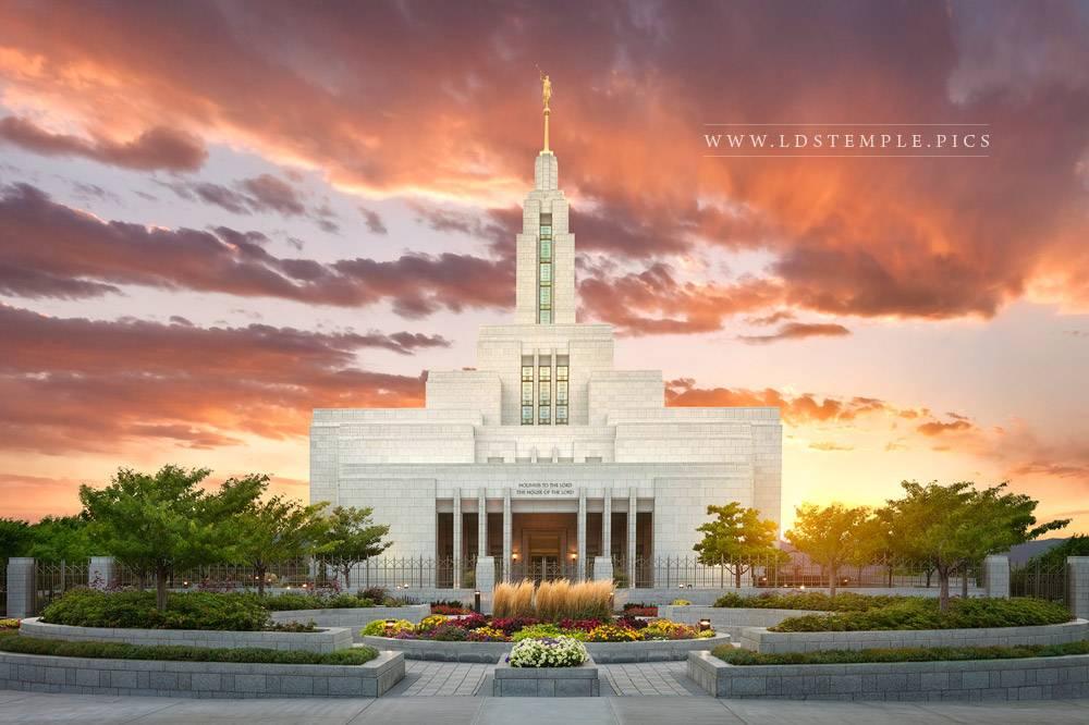 Draper Temple Summer Sunset West Lds Temple Pictures