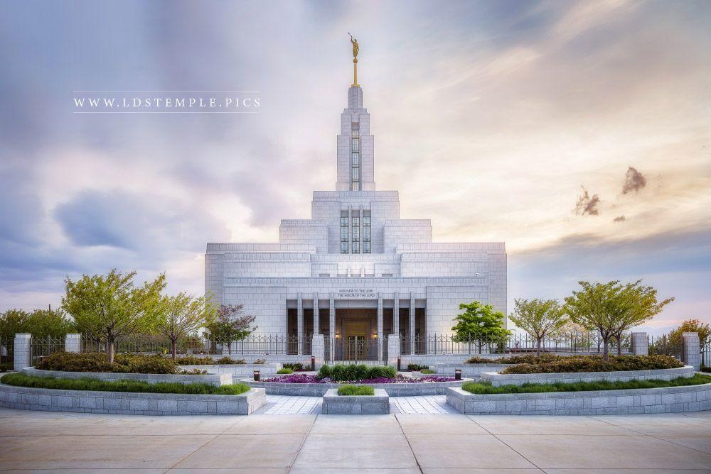 Draper Temple Sunset West Lds Temple Pictures