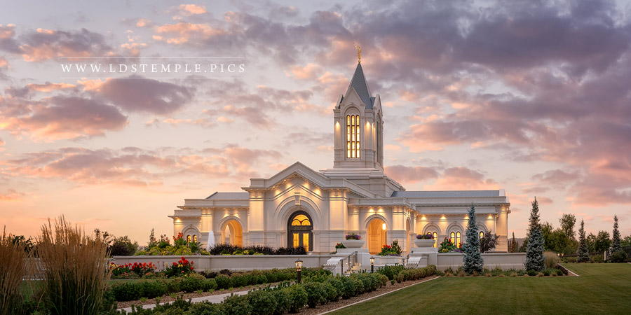 Fort Collins Temple Afterglow Print