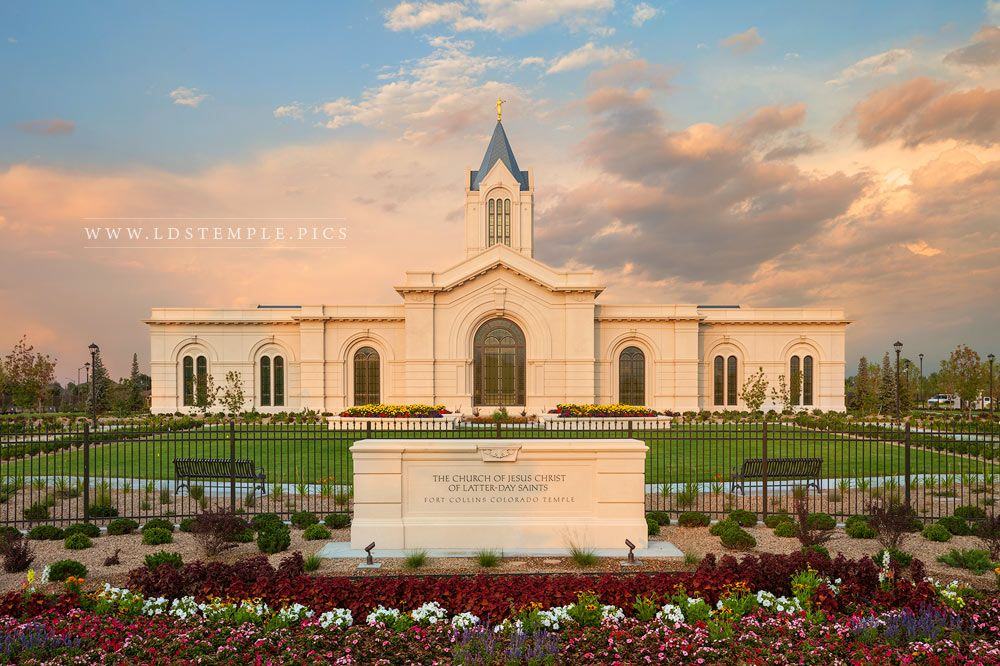 Fort Collins Temple Setting Sun Print