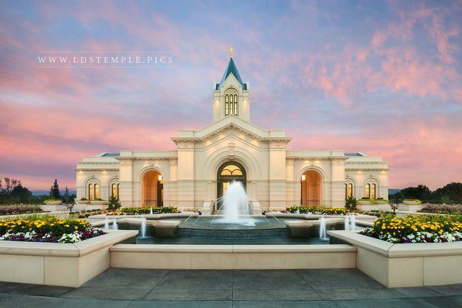 Fort Collins Temple Fountain Sunrise Print