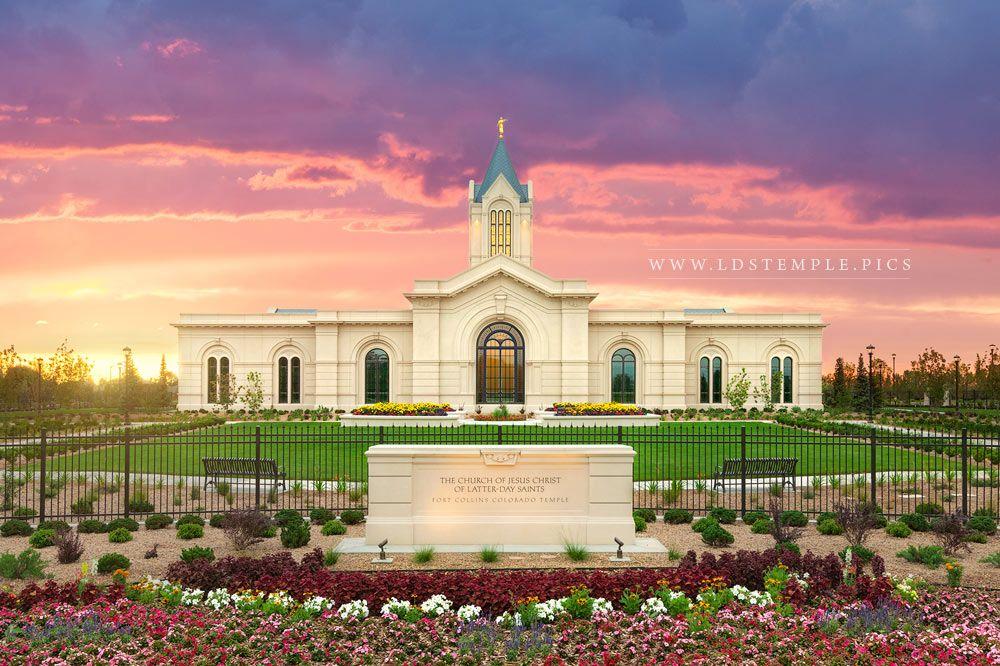 Fort Collins Temple Pastel Sunrise Print