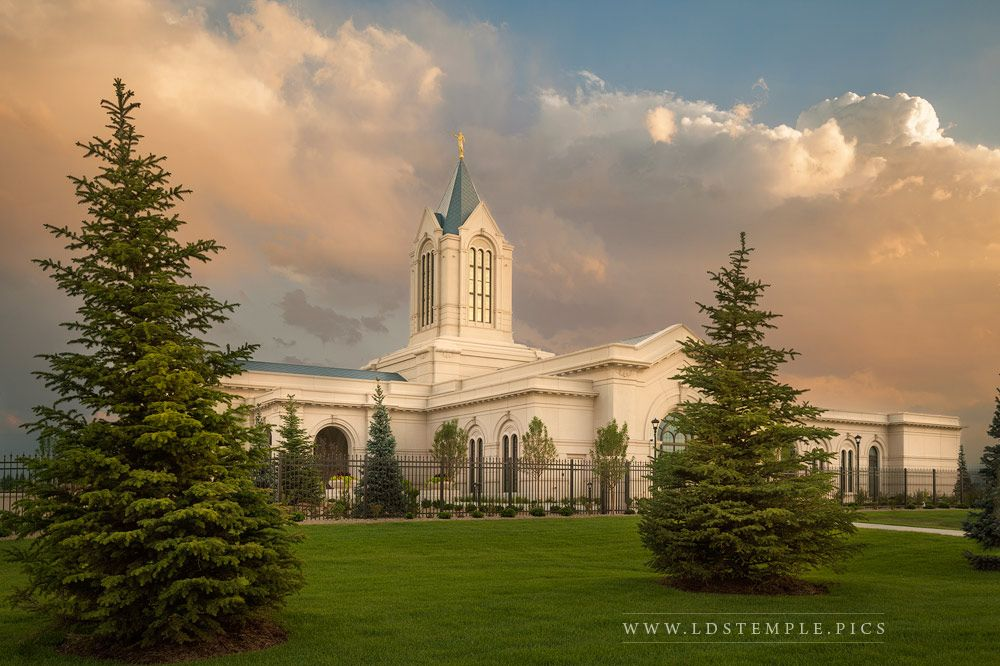 Fort Collins Temple Summer Sunset Print