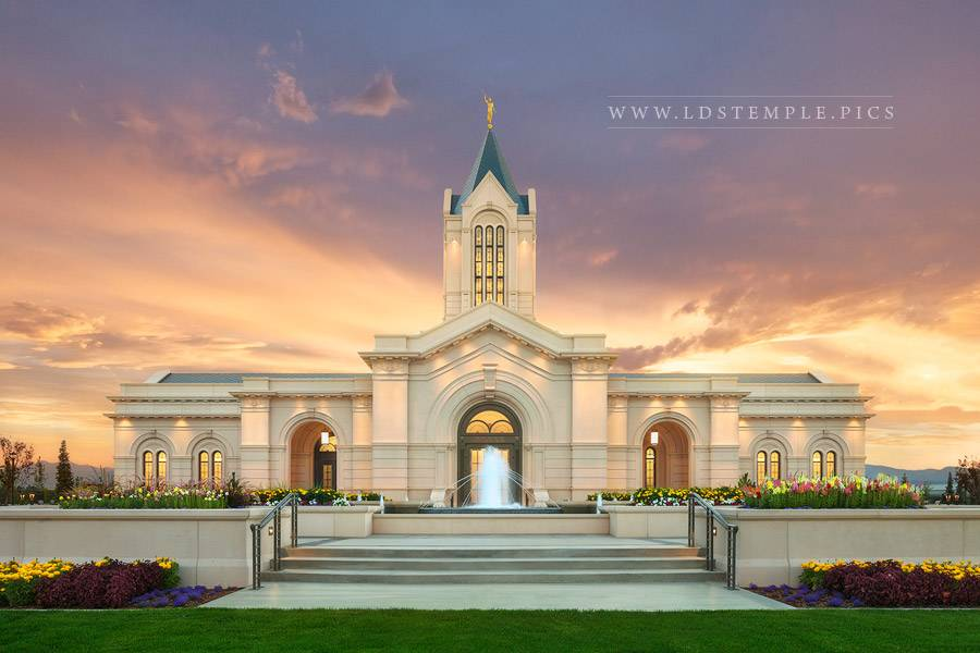 Fort Collins Temple Sunset Glow Print