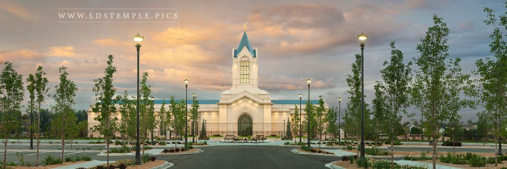 Fort Collins Temple Sunset North Panoramic Lds Temple