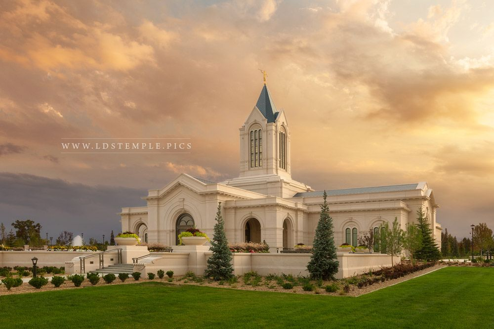 Fort Collins Temple Sunset Southwest Print