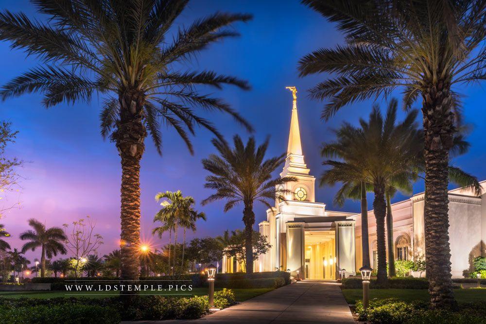 Fort Lauderdale Temple Blue Hour Print