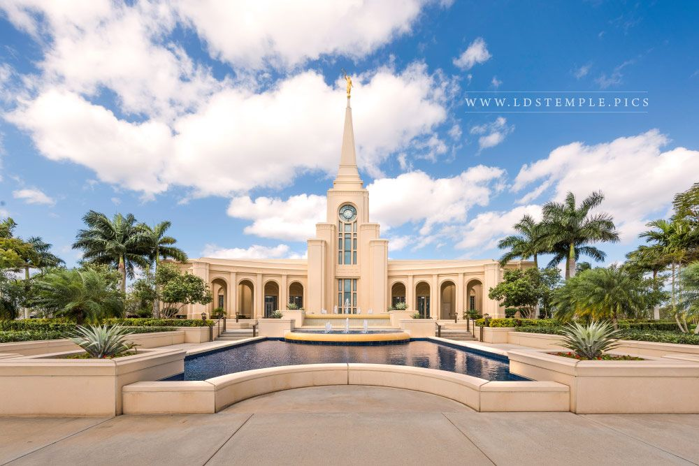Fort Lauderdale Temple Blue Skies Print