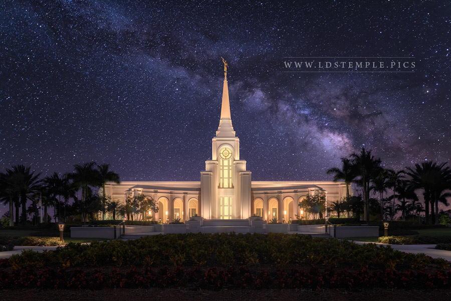 Fort Lauderdale Temple Celestial Print