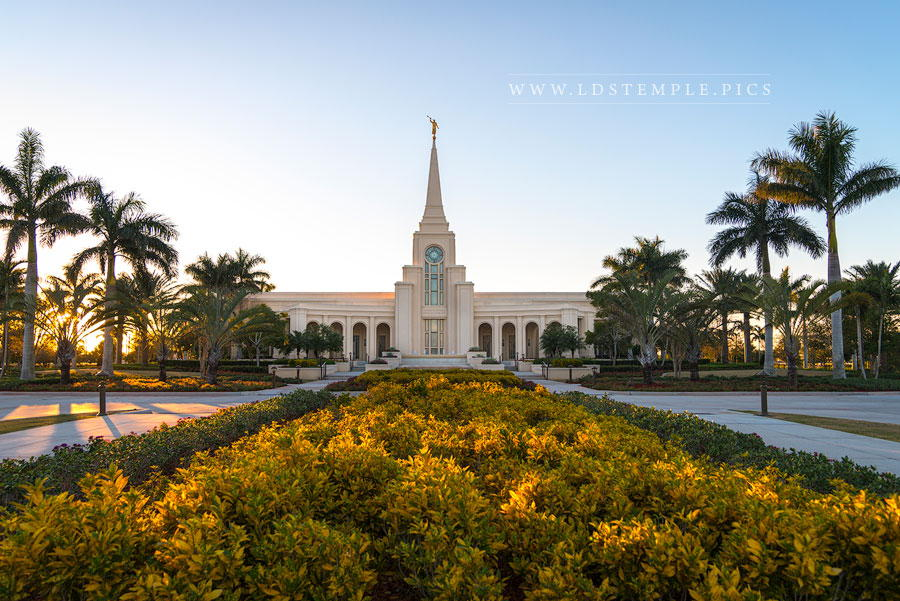 Fort Lauderdale Temple Golden Hour Print