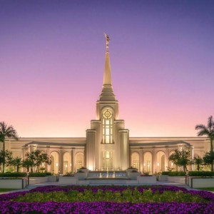 fort-lauderdale-temple-sunset-and-flowers