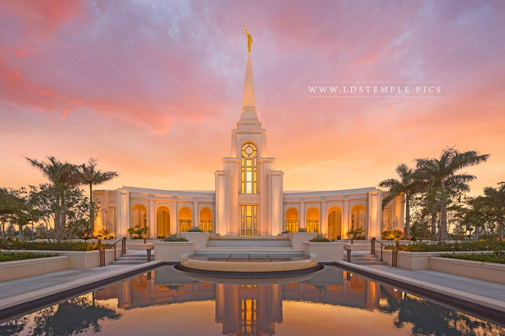 Fort Lauderdale Temple Sunset Print