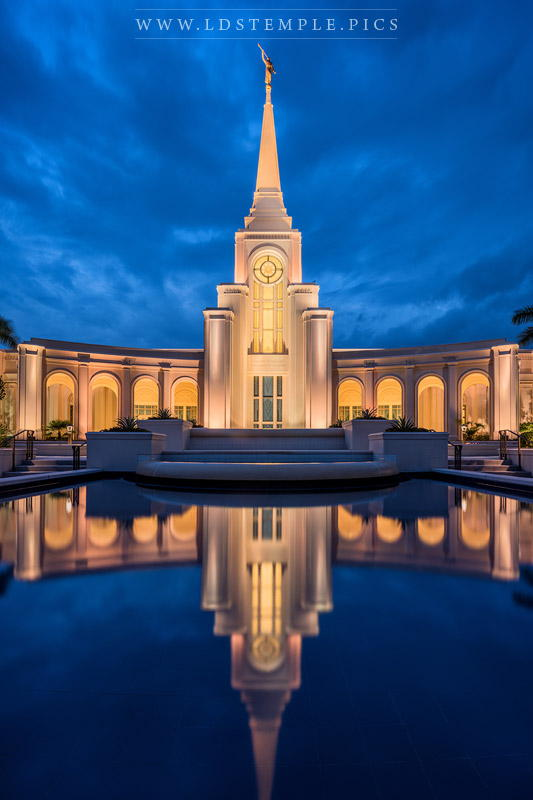 Fort Lauderdale Temple Twilight Reflections Print