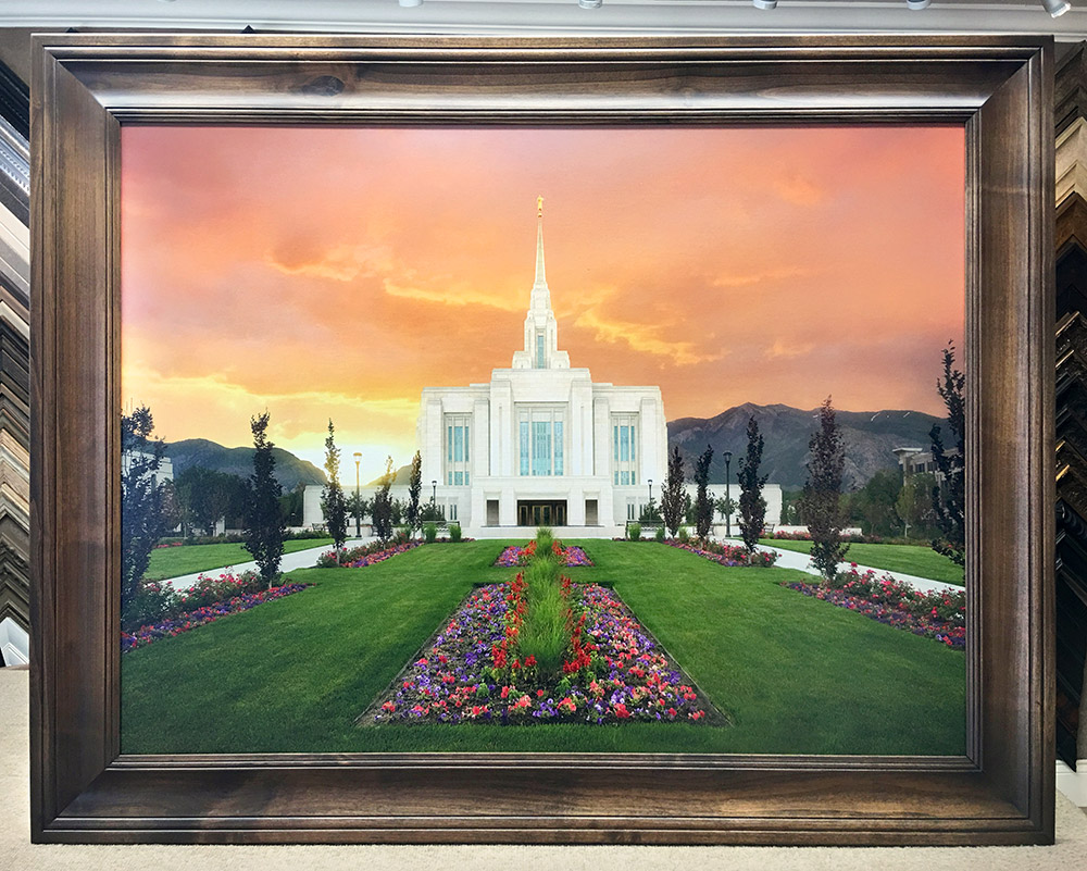 Framed Ogden Temple with Espresso Finish
