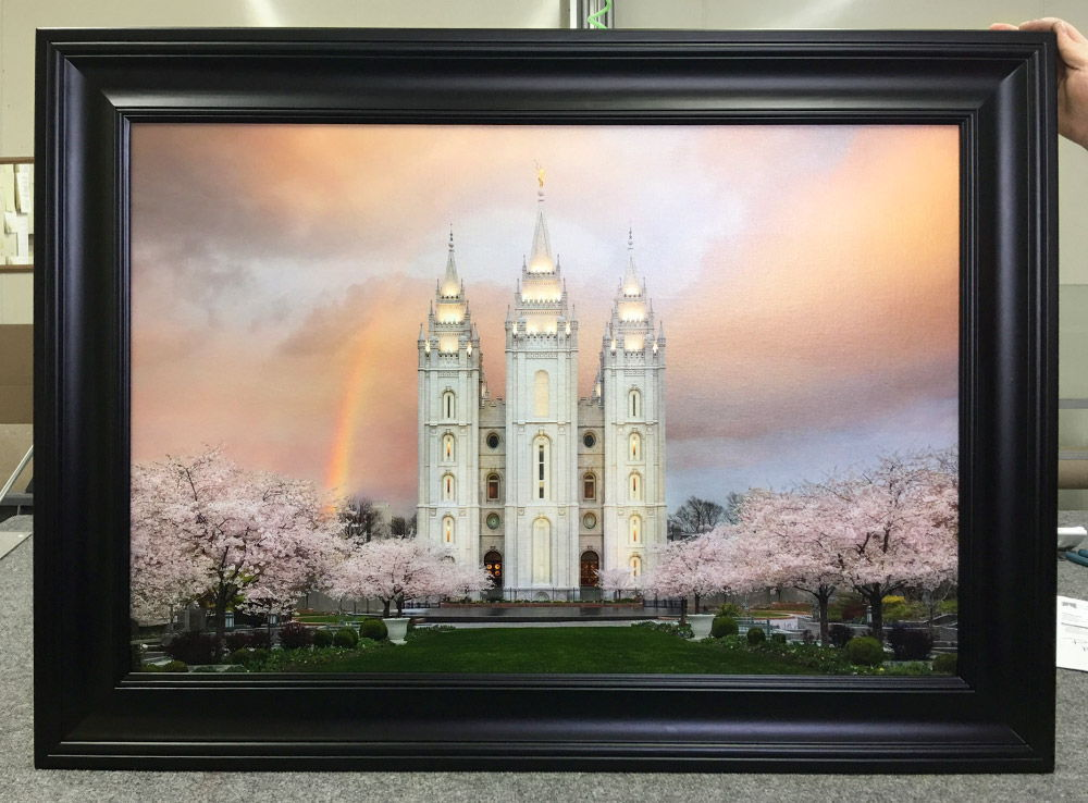 Framed Salt Lake Temple with Black Finish