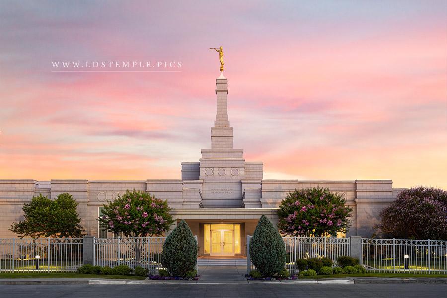 Fresno Temple Heavenly Light Print