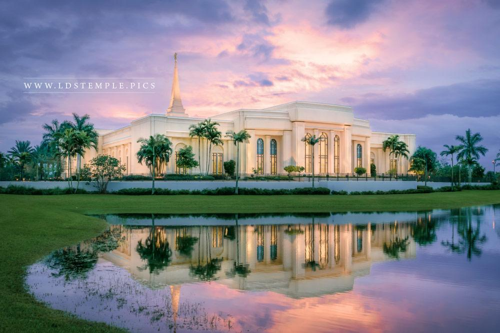Fort Lauderdale Temple Sunset Southeast Print