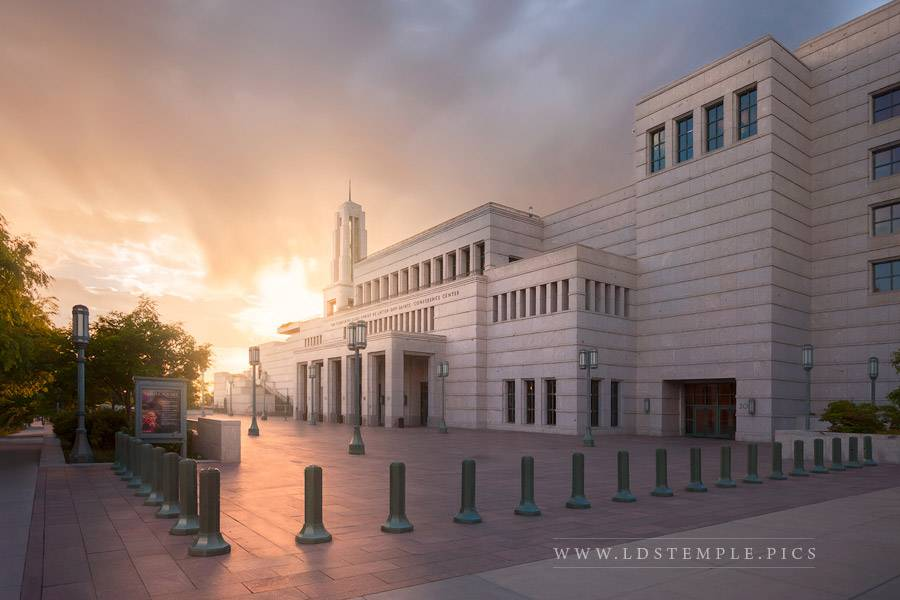 LDS Conference Center Summer Sunset Print