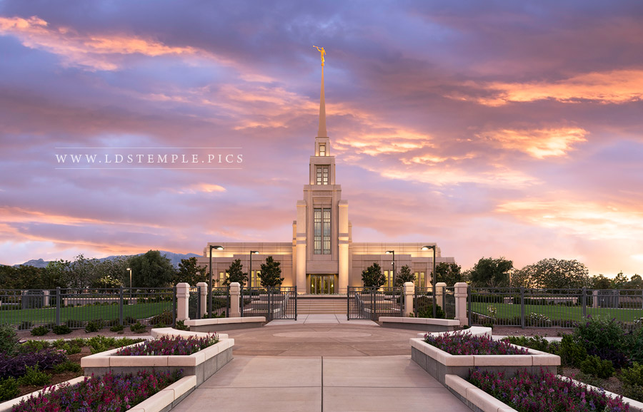 Gila Valley Temple Spring Sunset Lds Temple Pictures