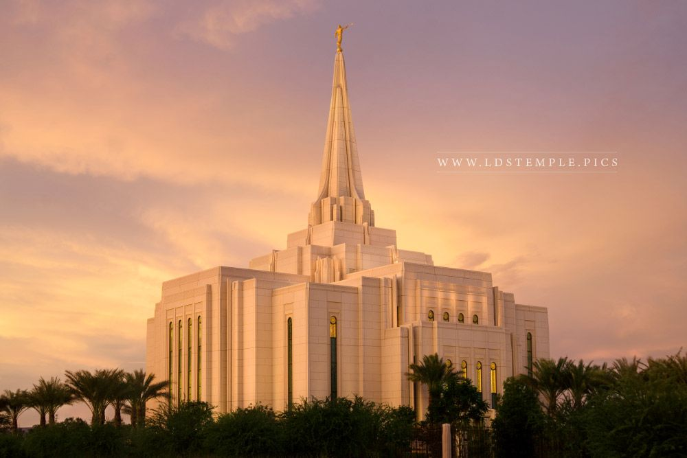 Gilbert Temple Sunset Southwest Print