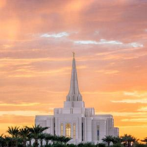 gilbert-temple-brilliant-sunset