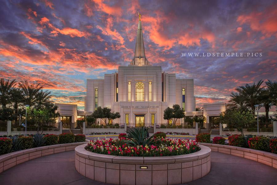 Gilbert Temple December Sunset Print