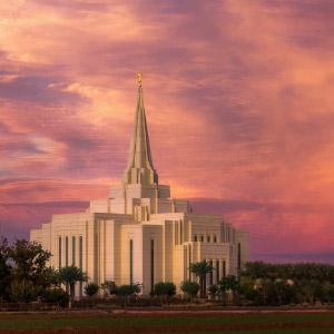 gilbert-temple-distant-sunset
