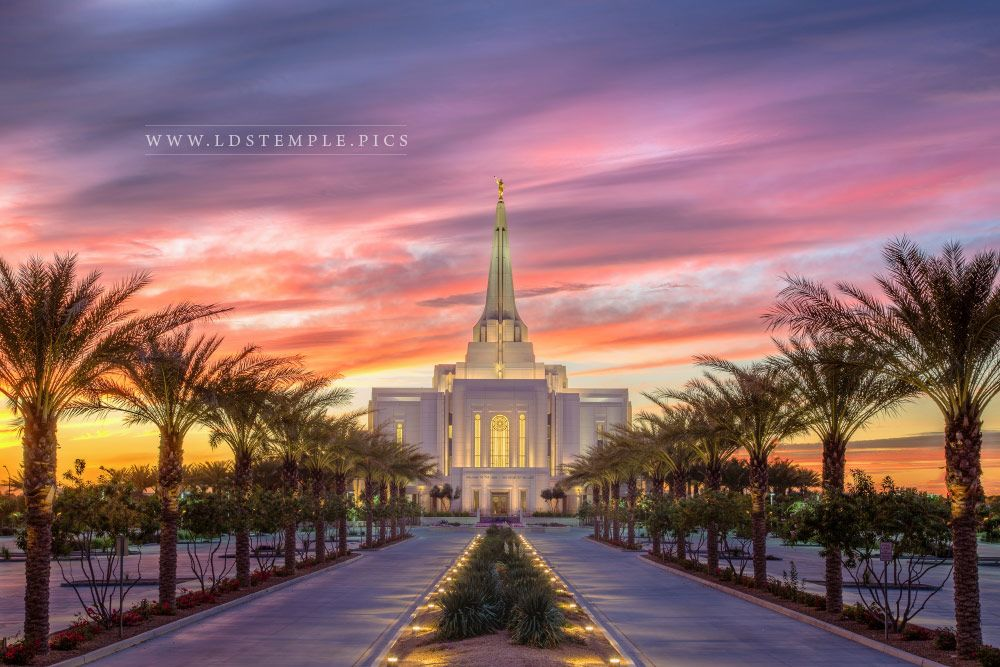 Gilbert Temple – Entrance Drive Sunset