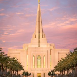 gilbert-temple-front-entrance-sunrise